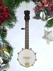 5'' Country String Banjo Musical Instrument Replica Minature Christmas Ornament