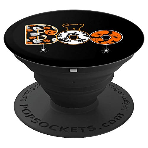 Funny Halloween Boo Gift Idea Stand For Cell Phones - PopSockets Grip and Stand for Phones and Tablets ()