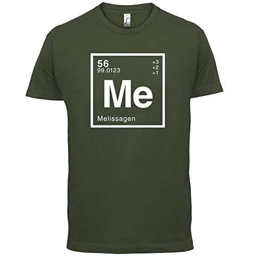 Melissa Periodensystem - Herren T-Shirt - Olivgrün - XXL