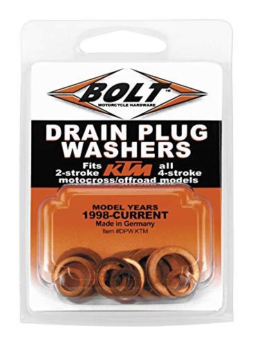 Bolt MC Hardware DPW.KTM Copper Drain Plug Washers