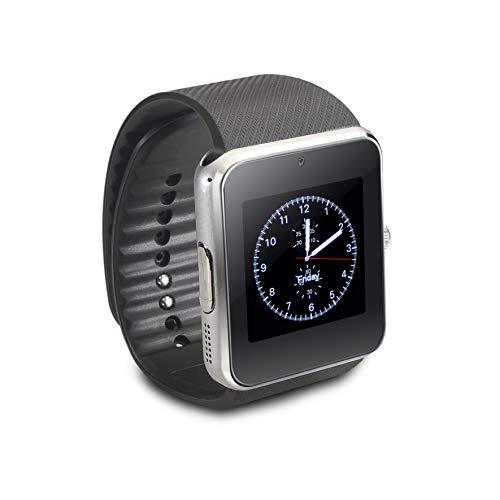 TD Reloj Inteligente Android con Llamadas y Whatsapp, Color Plata ...