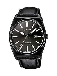 Casio MTP-1343L-1B1EF - Reloj analógico de cuarzo para hombre con correa de piel, color negro