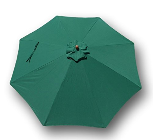 Formosa Covers Replacement umbrella canopy for 11ft 8 ribs Green (Canopy (Sunbrella Canopy)