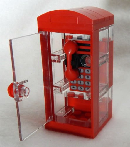 NEW LEGO PHONE BOOTH city town minifig street minifigure scale telephone - Jack Skellington Lego