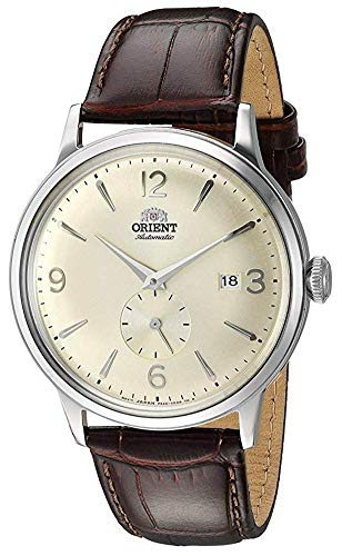 Orient Men's Bambino Small Seconds Stainless Steel Japanese-Automatic Watch with Leather Strap