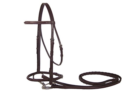 Derby Originals Classic Hunter English Bridle with Laced Reins -