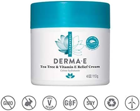 Derma E Tea Tree and Vitamin E Relief Cream, 4oz