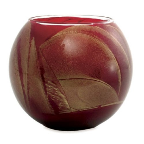 Northern Lights Candles Esque Polished Globe - 4 inch Cranberry