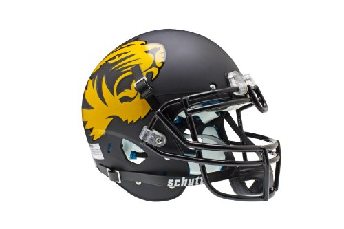 NCAA Missouri Tigers Authentic XP Football Helmet, Matte/Black by Schutt