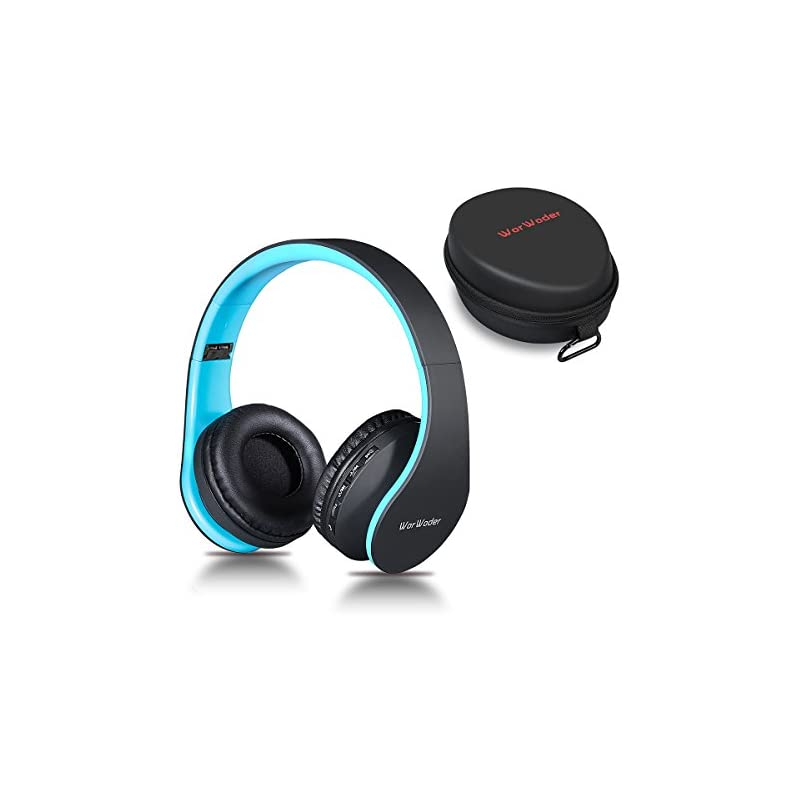 Bluetooth Headphones Over Ear Worwoder Hi Fi Stereo Wireless Headset Foldable Soft Memory Protein Earmuffs Built In Mic For Cell Phones Tv Pc And Travelling Black Blue 2020 Reviews Whydis