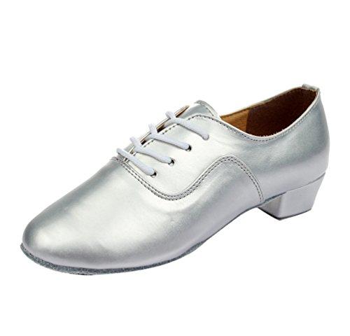 Shoes Semelle Ballroom En Dancing De Cuir Souple Chaussures Pour Argent Enfants Latine Adulte Jazz Lihaer Professionnelles Danse 5wFxOqZHp