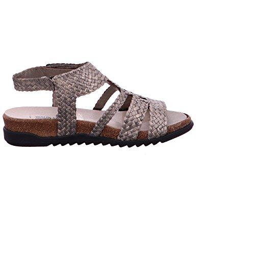Waldläufer 374005-100-007 - Sandalias de vestir para mujer Gris - Asphalt