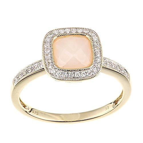 9k Yellow Gold Opal Ring - 1