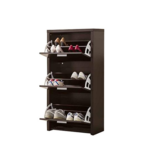 Coaster 900604 Home Furnishings Shoe Cabinet, Black by Coaster Home Furnishings