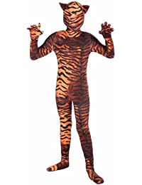 I'm Invisible Costume Stretch Body Suit, Tiger Print, Child Large