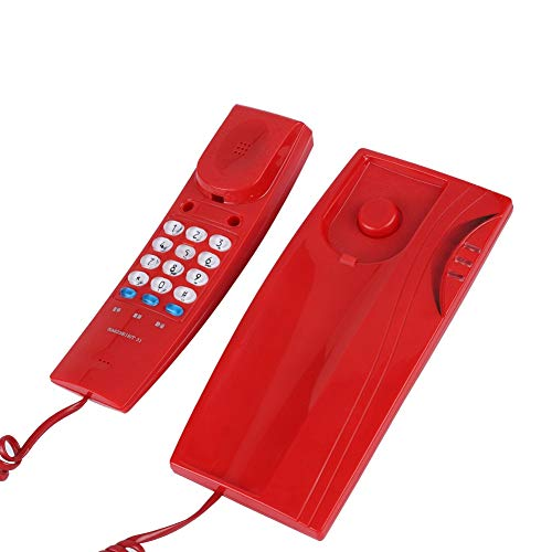 (fosa Mini Wall Phone, Mounted Landline Wired Wall Corded Telephone with Pause/Mute/Redial Mini Wall Line Telephone for Home Office Wall Hanging Fixed Telephone No Battery)