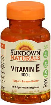 Sundown Naturals Vitamin E 400 IU Softgels - 100 ct, Pack of 6 by Sundown Naturals