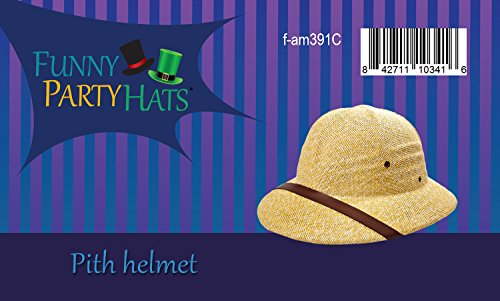 4de0edb1005 Funny Party Hats Pith Hat - Pith Hat Helmet - Safari Hats - Adult Costume  Hats - French Pith Hat at Amazon Men s Clothing store  Costume Headwear And  Hats