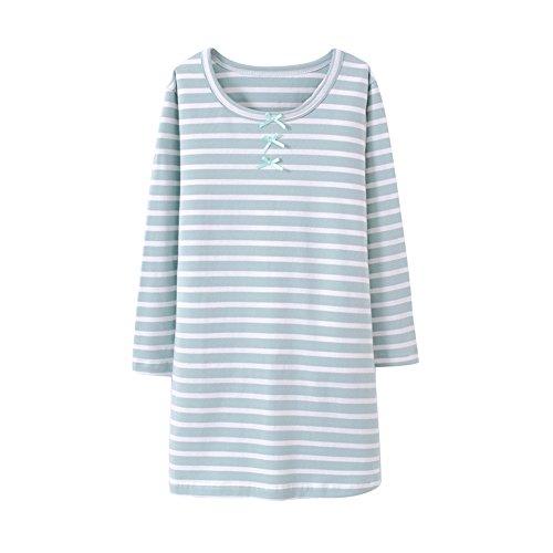 HOYMN Girls' Nightgowns & Sleep Shirts 100% Cotton Sleepwear for Toddler 2-11 Years (2-3 Years, Green)