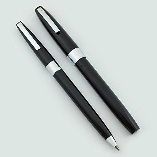Sheaffer Pen Plastic (Sheaffer 330 Fountain Pen & Ballpoint Set - 1970s New Old Stock (Black, Fine))