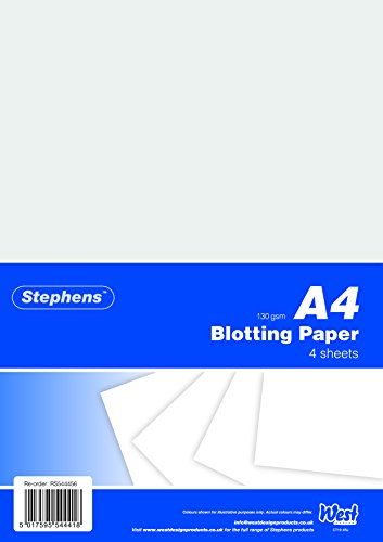 - Stephens 4 Sheets Blotting Paper with Hanging Bags - White