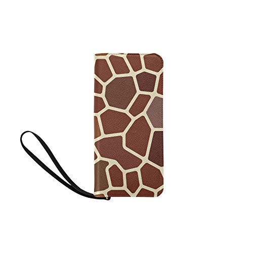 Womens Wallet Giraffe Print Printed Girls Long Clutch Purse Ladies Bifold Phone Bag Card Bag
