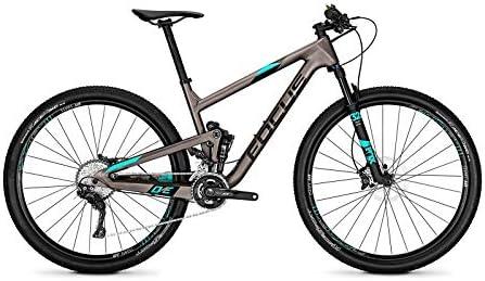 Focus o1e SL 29 Fully Mountain Bike Bicicleta Titanio Mate/Aquablue 2018, tamaño 42: Amazon.es: Deportes y aire libre