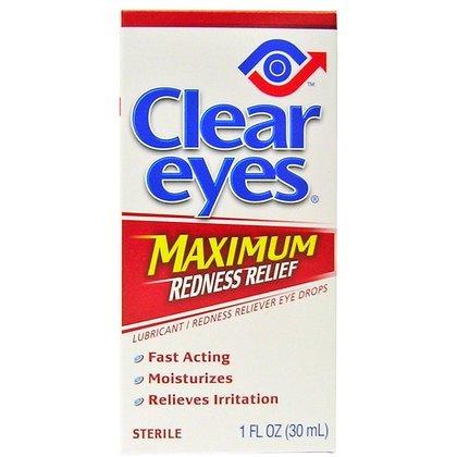 Gouttes yeux clairs Rougeur maximale Dégagement oculaire - 1 fl oz