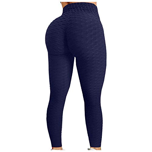 Women's Scrunch High Waist Butt Lifting Legging, Ladies Bubble Hip Tights for Yoga Workout Running, Slimming Booty, Anti Cellulite & Tummy Control
