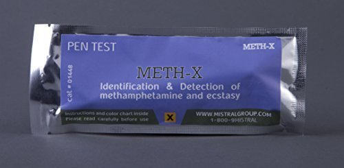 Mistral Meth/X PenTest Drug Identification and Narcotic Residue Detection Kit (3 Pen Tests)(Multiple Quantities) Detects Traces Of Methamphetamine and Ecstasy by Mistral Security
