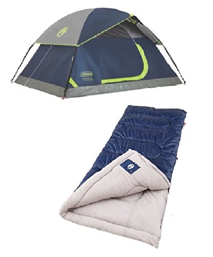 Price comparison product image Bundle includes Sundome 2 Person Tent with sleeping bag(s) (1 sleeping bag)