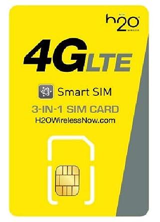 Amazon.com: H2O - Tarjeta SIM inteligente 3 en 1 inalámbrica ...