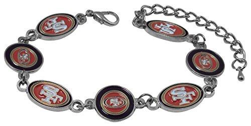 (NFL San Francisco 49ers Logo Bracelet)