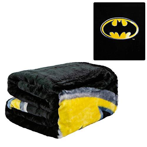 (JPI Batman Emblem Super Soft Plush Blanket 100% Polyester Fiber 79