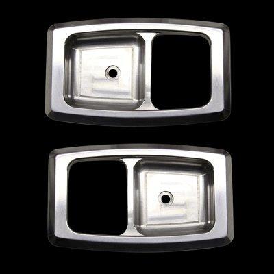 Billet Door Handle Bezels (UPR 1979-1993 Mustang Billet Door Handle Bezels Polished)