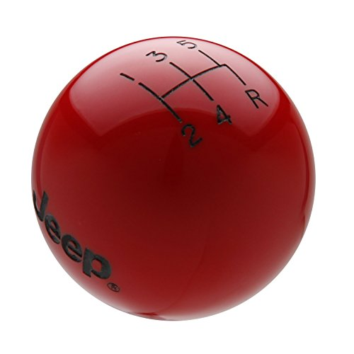 Speed Dawg M504JP-EBK-5RDR Shift Knob (Jeep Logo 5 Speed Reverse Lower Right Shift Knob with Engraved Pattern, Red/Black)