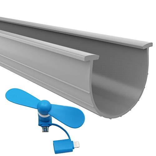 The 2020 Gray Garage Door Bottom Seal | 20 Foot, 3.75 Inch Width Garage Door Seals Bottom Rubber Replacement Kit | T-Ends Garage Door Weather Seal Threshold Strip | Easily Cut & Adapt to Doors