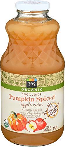 (365 Everyday Value, Organic 100% Juice Naturally Flavored, Pumpkin Spiced Apple Cider, 32 fl oz)