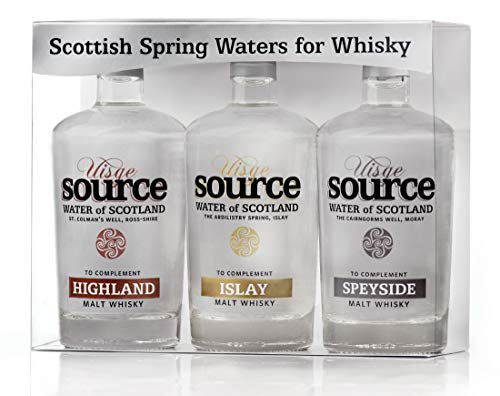 (Uisge Source Scottish Spring Waters for Whisky - 3 Region Selection)