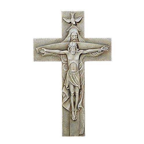 Trinity Garden Cross Wall Plaque, 12 Inch