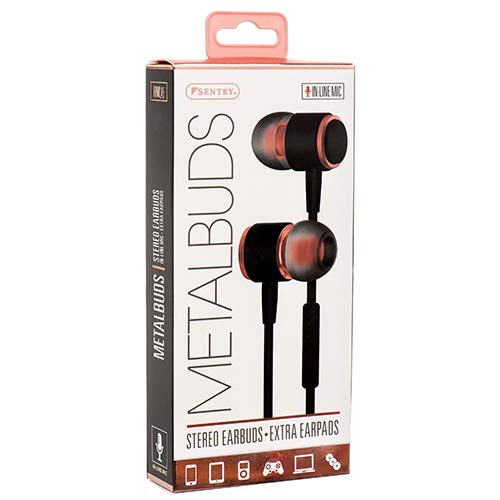 New 375976 Sentry Metalbuds Earphone W/Mic Asst Clrs (12-Pack) Audio/Video Wholesale Bulk Electronics Audio/Video