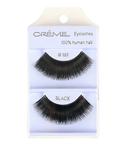 12 packs The Creme Shop 100% Human Hair Eyelashes (#101) (Creme Eyelashes 101)