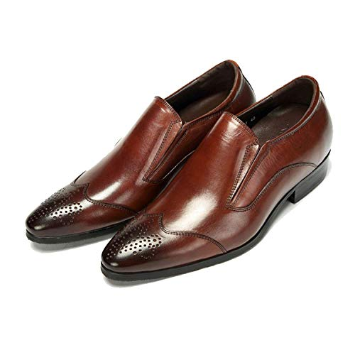 Reddishbrown Comfortable in Stylish Scarpe Uomo da Pelle Pointed British Trend Business And P7waqvE