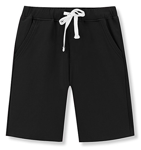 Mr.Zhang Mens Casual Cotton Elastic Gym Shorts