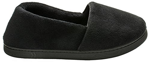 ISOTONER Womens Microterry Espadrille Black F83E6mPkl