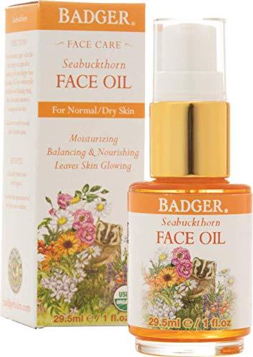 Badger Seabuckthorn Face Oil - 1 oz Glass Bottle (Seabuckthorn Best Skin Ever)