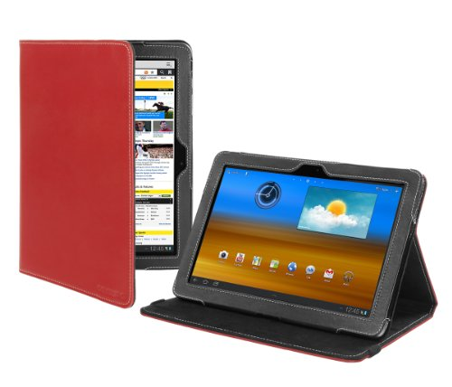 Cover-Up Samsung Galaxy Tab 10.1 Tablet (GT-P7510 / GT-P7500) Version Stand Leather Cover Case (Red)