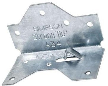 20 Pack Simpson Strong-Tie A34 Framing Angle Bracket - A34 Framing