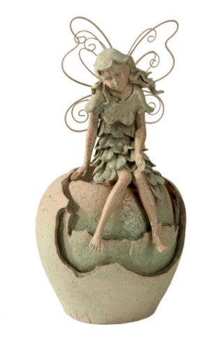 Fairy Table Fountain Polystone E Model Beige-Green by Midwest-CBK by Midwest-CBK