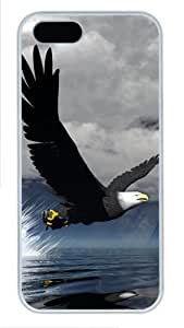 3D Eagle coolest iphone 5 case PC White for Apple iPhone 5/5S